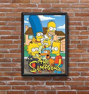 Quadro Placa Decorativo Os Simpsons Amarelo & Azul