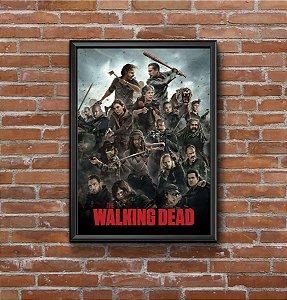 Quadro Placa Decorativo Série The Walking Dead Preto & Verde