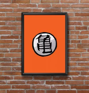 Quadro Placa Decorativo Dragon Ball Laranja & Preto