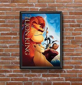 Quadro Placa Decorativo Filme O Rei Leão Disney Vermelho & Amarelo