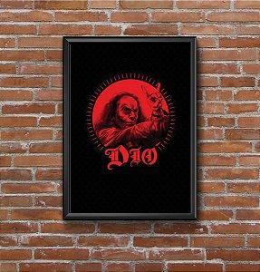 Quadro Placa Decorativo Dio Preto & Vermelho