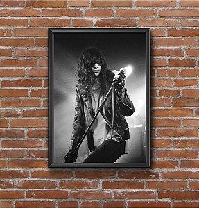 Quadro Placa Decorativo Joey Ramone Preto & Branco