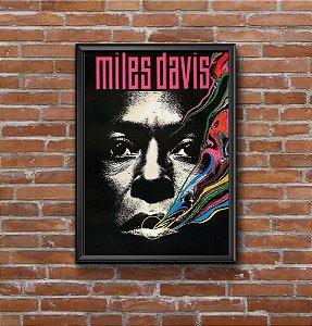 Quadro Placa Decorativo Mile Davis Tutu Preto & Branco