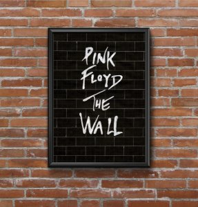 Quadro Placa Decorativo Banda Pink Floyd The Wall Preto & Branco