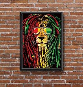 Quadro Placa Decorativo Reggae Verde & Amarelo & Vermelho