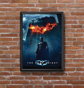 Quadro Placa Decorativo Filme Batman - The Dark Knghit Preto & Azul