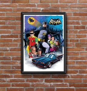 Quadro Placa Decorativo Super-Herói Batman DC Comics Preto & Amarelo