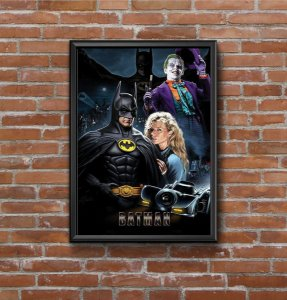 Quadro Placa Decorativo Super-Herói Batman DC Comics Preto