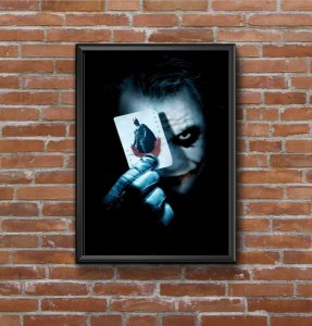 Quadro Placa Decorativo Coringa Filme Batman - The Dark Knight Azul