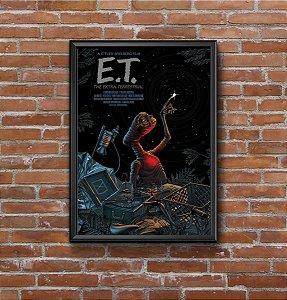 Quadro Placa Decorativo Filme E.T: O Extraterrestre Preto & Marrom