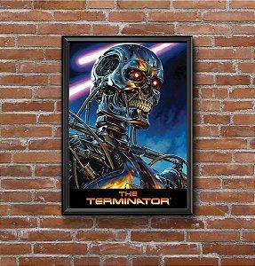 Quadro Placa Decorativo Filme O Exterminador Do Futuro Preto & Prata