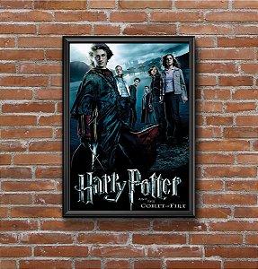 Quadro Placa Decorativo Filme Harry Potter E O Cálice De Fogo Preto & Azul
