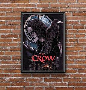 Quadro Placa Decorativo Filme The Crow - O Corvo Preto & Vermelho