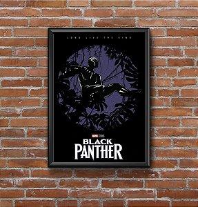 Quadro Placa Decorativo Filme Pantera Negra Preto & Azul