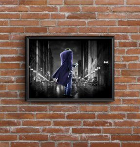 Quadro Placa Decorativo Filme The Dark Knight Coringa Roxo & Verde