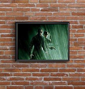 Quadro Placa Decorativo Filme The Matrix Preto & Verde