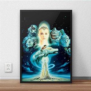 Quadro Placa Decorativo Filme A História Sem Fim Preto & Azul