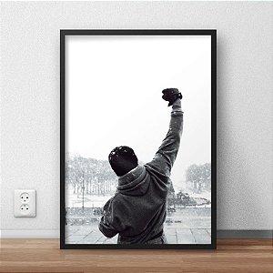 Quadro Placa Decorativo Filme Rocky Balboa Pret & Branco