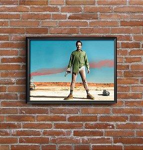Quadro Placa Decorativo Série Breaking Bad Walter Azul & Verde
