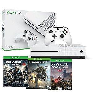 Xbox One Slim 1TB + 3 jogos