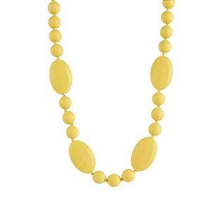 Colar mordedor em silicone Yellow