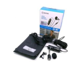 Microfone Boya Lapela By-m1 iPhone Smartphone Android Cabo