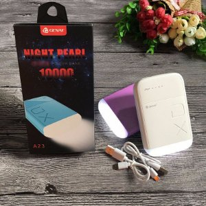 Bateria Externa Night Pearl Power Bank 10000 mAh con Linterna y 2.1A