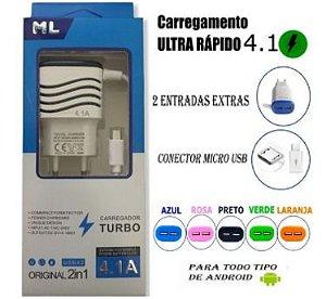 CARREGADOR RAPIDO ML 4.1A ORIGINAL