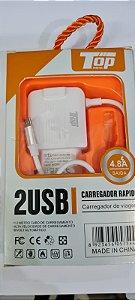 Carregador celular turbo top-54  4.8A v8