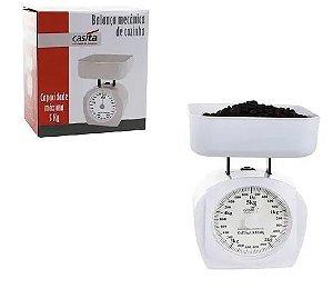 Balança De Cozinha Mecânica Com Recipiente Para Até 1 kg - Casita