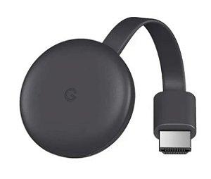Google Chromecast 3 Conversor Tv Smart C/ Nota Fiscal