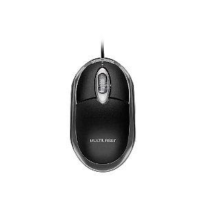 Mouse Multilaser Optico Classic Preto 1200 Dpi Usb, Mo179, Preto