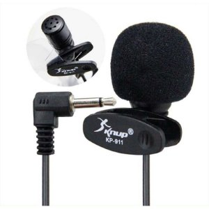 Microfone De Lapela Entrada P2 Para Celular Knup Kp-911 Knup