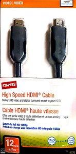 Cabo HDMI para HDMI - Staples (3.7m)