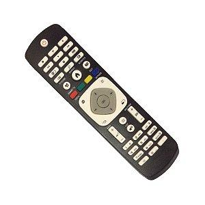 Controle Remoto Smart Tv Led Philips Preto