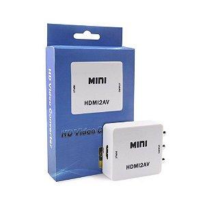 Mini Adaptador Conversor HDMI para AV (RCA)