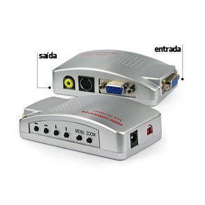 Conversor de Video VGA para RCA (AV) - Super Video