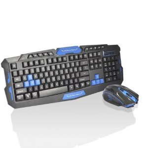 Kit Teclado E Mouse Gamer Sem Fio WiFi 2.4ghz 3200dpi HK8100 - Ebai brasil