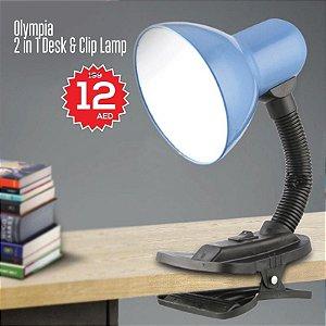 Abajur Luminária De Mesa C/ Garra Table Lamp