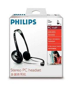 Fone de Ouvido Shm1500 Philips Headset Estéreo para Pc Ideal P/ Voip com Microfone Giratorio - Preto