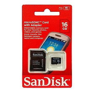 Cartão De Memória Micro Sd 16gb Sandisk