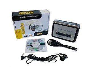 Conversor Leitor Fita Cassete K7 Stereo Digital Pc Usb