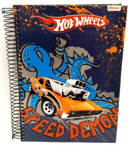 Caderno HotWheels Foroni Speed Demon - 200 mm x 275 mm 10 Materias