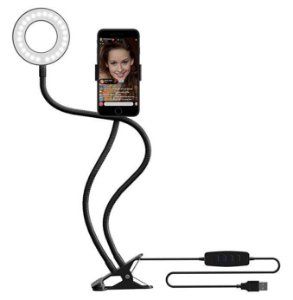 Professional Live Stream Selfie Ring Light and Phone Holder