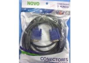 Cabo VGA para VGA - NOVO - WLW 3 Metros
