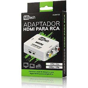 Mini Adaptador Conversor De Hdmi Para Rca Video Composto Av
