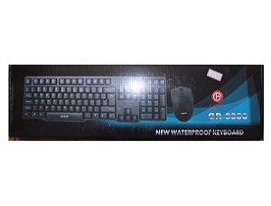 Kit Teclado + Mouse Waterproof C/ Fio Gr-8888