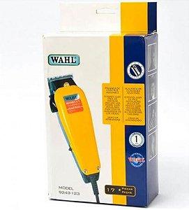 Máquina De Cortar Cabelo - Wahl - 17 Peças - Uso Doméstico - Amarela