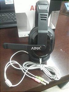 headset Fone Aima Multimedia Sterio Headphone Super Bass Microfone