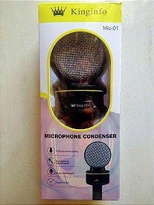 Microfone Condensador Multimídia Kinginfo Mic-01
